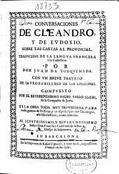 Conversaciones de Cleandro y de Eudoxio sobre las Cartas al provincial
