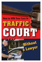 How to Win Your Case in Traffic Court Without a Lawyer PDF