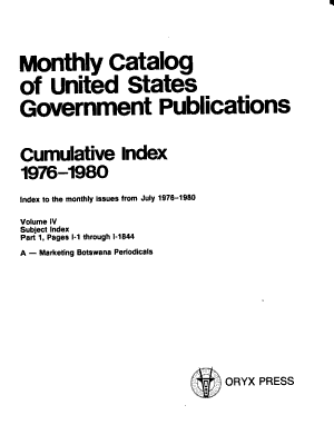 Monthly Catalog of United States Government Publications PDF