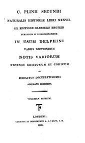 C. Plinii Secundi Naturalis historiae libri XXXVII: Naturalis historia lib. I