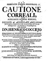 Dissertatio Juridica Inauguralis, De Cautione Correali