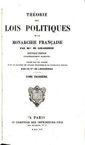 Théorie des lois politiques de la monarchie française: Volume3