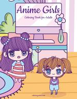Anime Girls Coloring Book for Kids 1