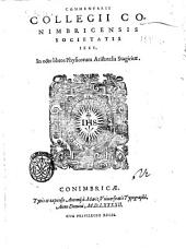 Commentarii Collegii Conimbricensis Societatis Iesu, in octo libros Physicorum Aristotelis Stagiritæ