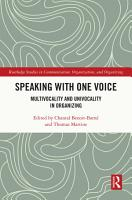 Speaking With One Voice PDF