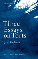 Three Essays on Torts PDF