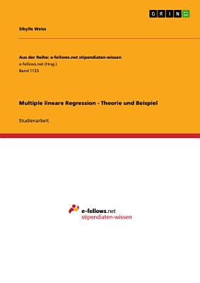 Multiple lineare Regression   Theorie und Beispiel PDF
