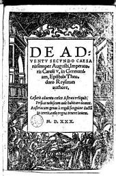 De adventu secundo Caesaris semper Augusti...