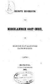 Beknopte beschrijving van Nederlandsch Oost-Indië, in kleine Javaansche zangwijzen