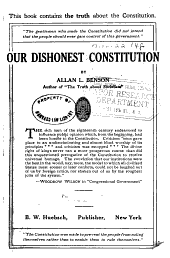 Our Dishonest Constitution