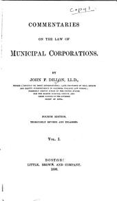 Commentaries on the Law of Municipal Corporations PDF