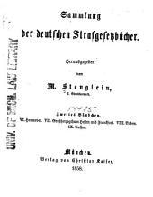Sammlung der deutschen Strafgesetzbücher: Band 2