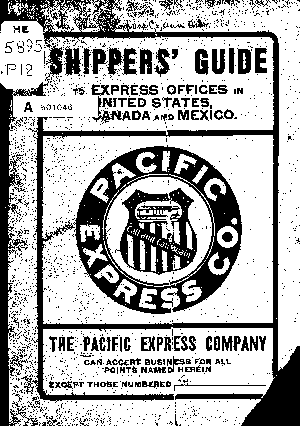 Shippers' Guide to Express Offices in United States, Canada & Mexico
