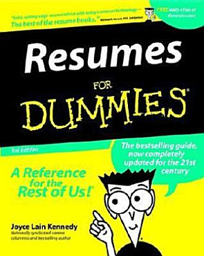 Resumes For Dummies PDF