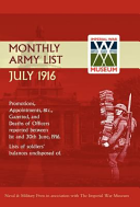 Supplement to the Monthly Army List July 1916