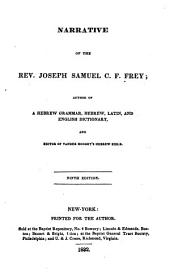 Narrative of the Rev. Joseph Samuel C.F. Frey