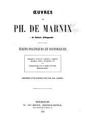 Oeuvres: Études politiques et historiques, précédés d'une introduction par Alb. Lacroix