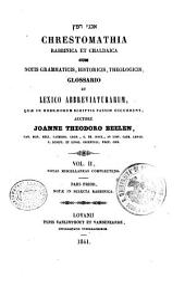Chrestomathia rabbinica et chaldaica cum notis grammaticis, historicis, theologicis: 2.1: Notas miscellaneas complectens. Notae in selecta rabbinica