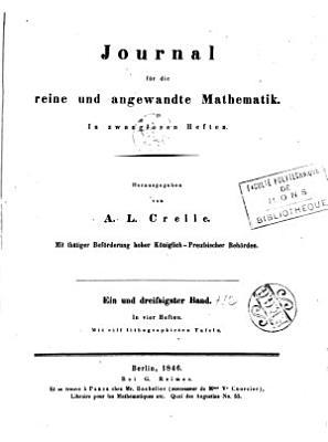 Journal F  r Die Reine Und Angewandte Mathematik  1851  Vol  41  Classic Reprint  PDF