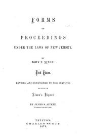 Forms of Proceedings Under the Laws of New Jersey