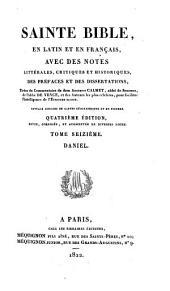 Sainte Bible en latin et en français: ouvrage enrichi de cartes géographiques et de figures, Volume16