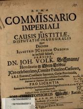 De commissario imperiali in causis iustitiae, disputatio inauguralis