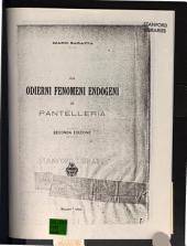 Gli odierni fenomeni endogeni di Pantelleria