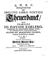 Disquisitio de inclyto libro poetico Theuerdanck