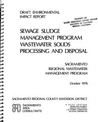 Draft Environmental Impact Report  Sewage Sludge Management Program Wastewater Solids Processing and Disposal PDF