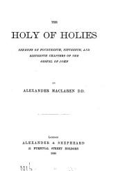 The holy of holies, sermons