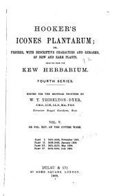 Hooker's Icones Plantarum