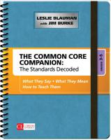 The Common Core Companion  The Standards Decoded  Grades 3 5 PDF