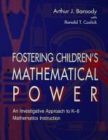 Fostering Children s Mathematical Power PDF