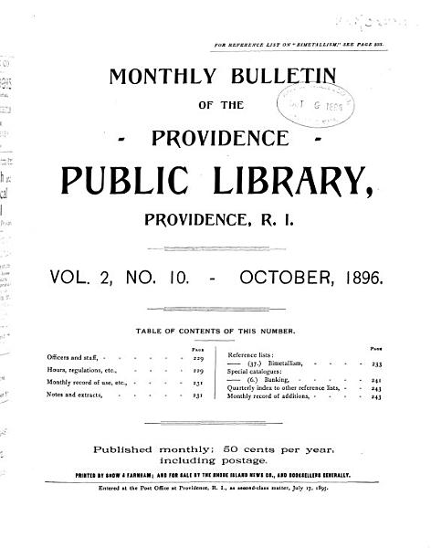 Download Bulletin of the Public Library Book