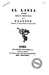 Il Lisia, ovvero Dell'amicizia di Platone