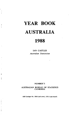 Year Book Australia  1988  No  71 PDF