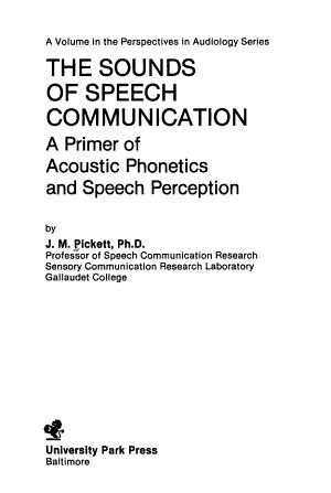 The Sounds of Speech Communication PDF