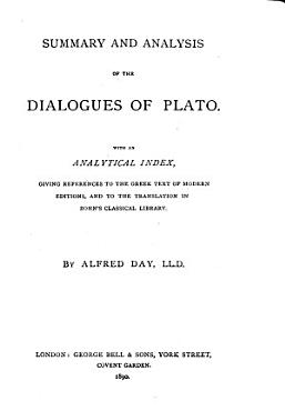 Summary and Analysis of the Dialogues of Plato PDF