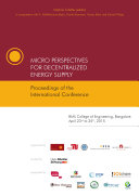 Micro Perspectives for Decentralized Energy Supply : Proceedings of the International Conference (2015, Bangalore)