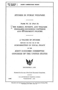 The Family  Poverty  and Welfare Programs PDF