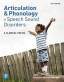 Articulation and Phonology in Speech Sound Disorders Book