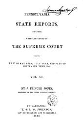 Pennsylvania State Reports: Volume 11