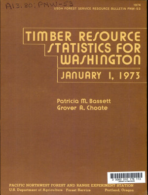 Timber Resource Statistics for Washington  January 1  1973