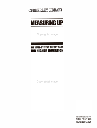 Measuring Up 2000