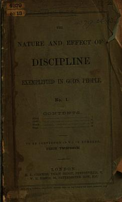 The Nature and Effect of Discipline Exemplified in God s People