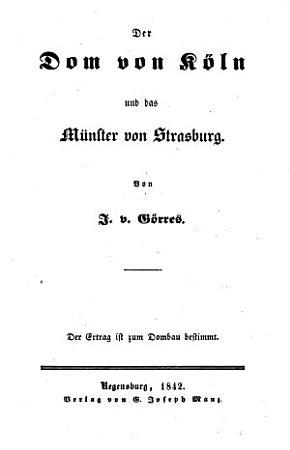 Der Dom zu K  ln und das M  nster von Stra  burg PDF