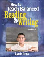 How to Teach Balanced Reading and Writing PDF
