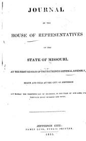 Journal of the House of Representatives of the State of Missouri at the ... Session of the ... General Assembly