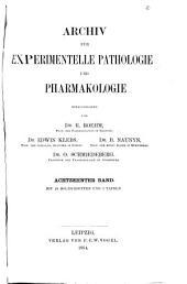 Archiv für experimentelle Pathologie und Pharmakologie: Band 18