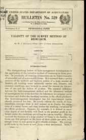 Validity of the survey method of research